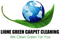 Lione Green Carpet Cleaning Sticky Logo